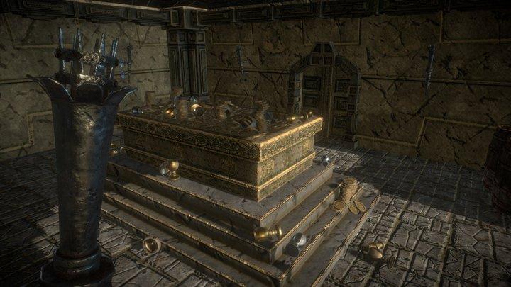 Medieval Fantasy Dwarf Treasure Room 3D Model