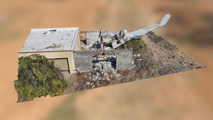 Mock Helicopter Crash Scene 3D Model