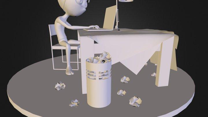 Ninja En Construcción Model 3D Model