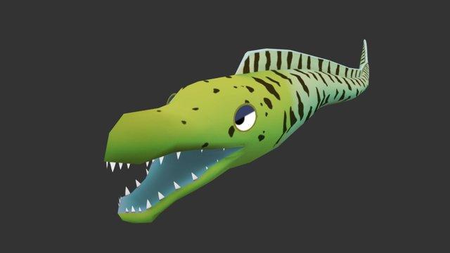 Cartoon Eel 3D Model