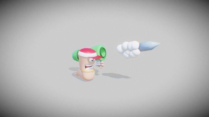 Worms Rumble 3D Model