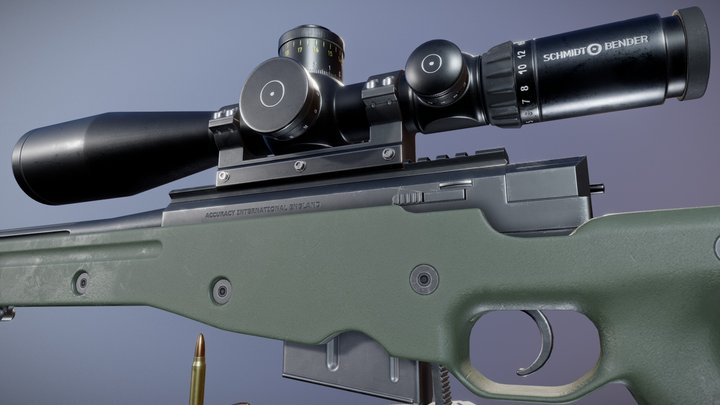 AWM Sniper Rifle - For Sale 3D Model