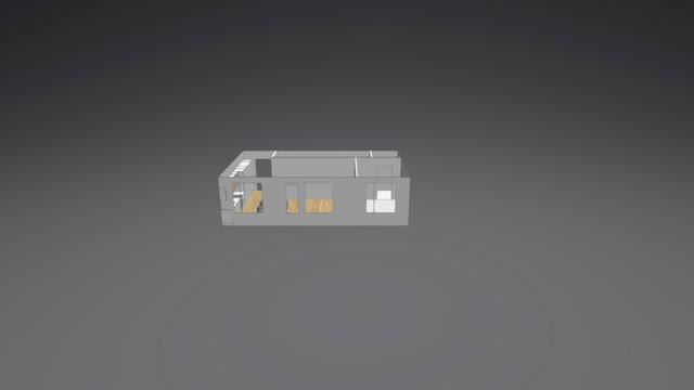 Pohja2 koko asunto 3D Model