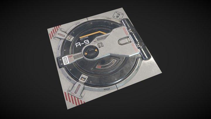 Game Asset Assignment Sci-fi Hatch 3D Model