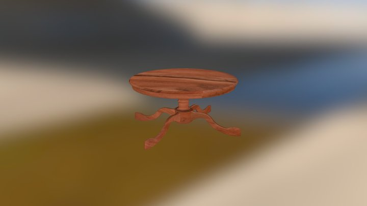 Round Dining Table 3D Model