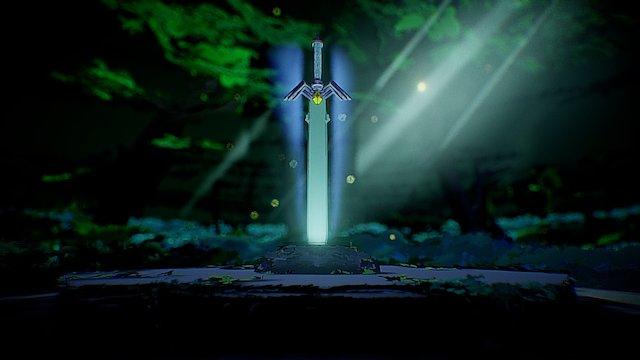 The Legend of Zelda Tilt Brush Forest 3D Model
