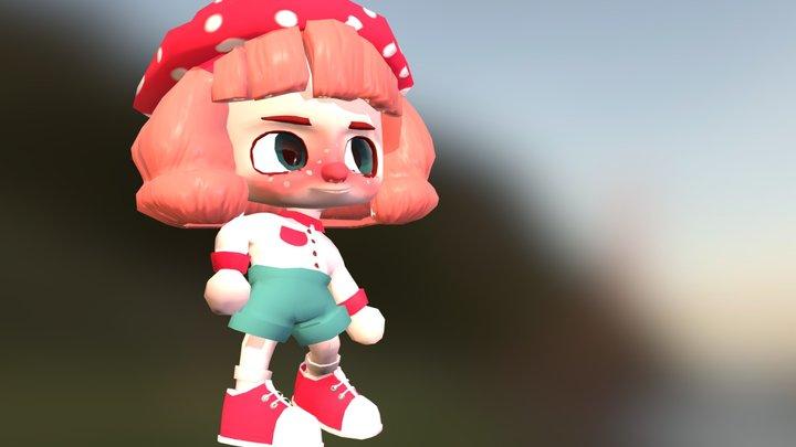 Mushroom Girl 3D Model