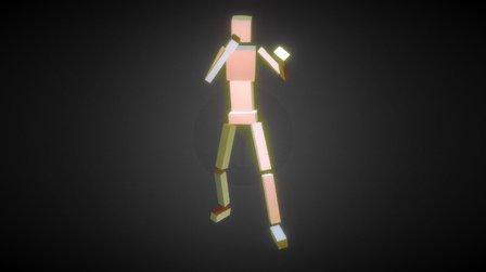 CubeMan 3D Model