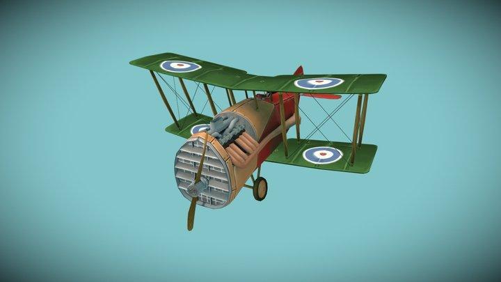F2B Bristol Fighter (Stylised) 3D Model