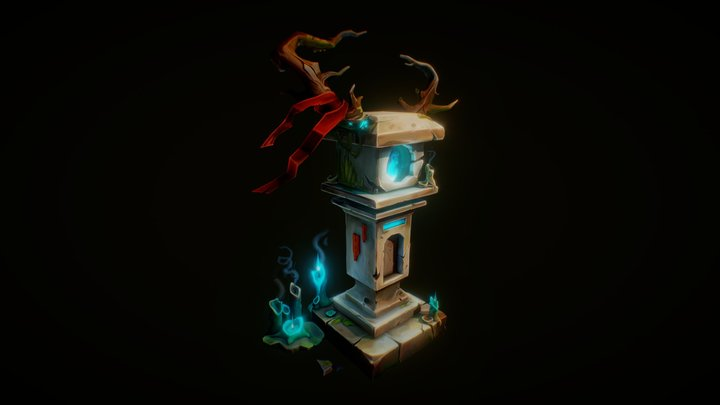 Forest Spirit Mailbox 3D Model