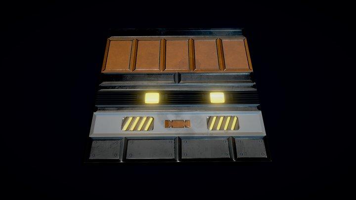 modular scifi wall 3D Model