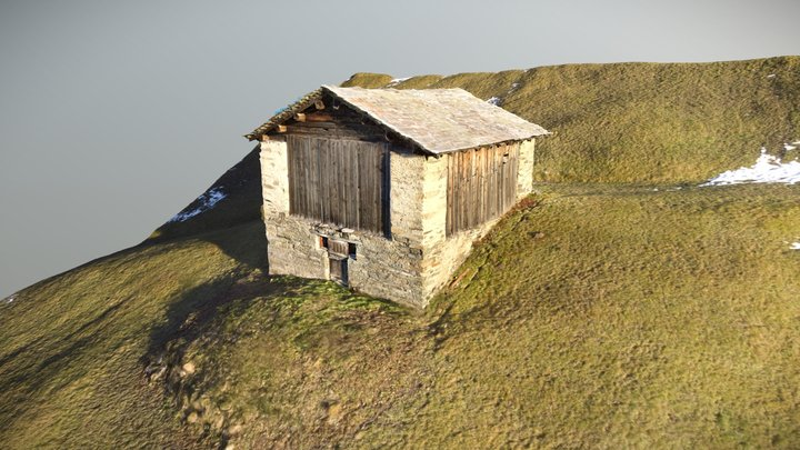 Switzerland - Sheep Hut in Vals 3D Model