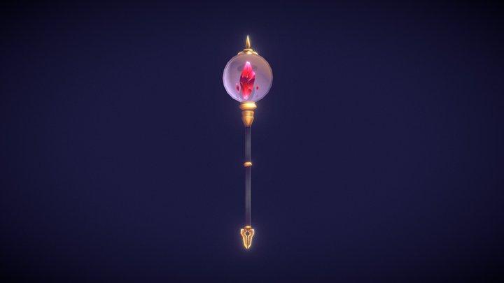 【Magic Staff】 3D Model