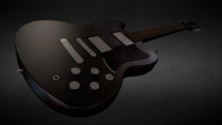 Electric Guitar 3D Model