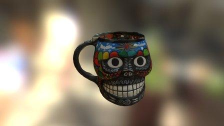 Mexican Skull Cup 3D Model