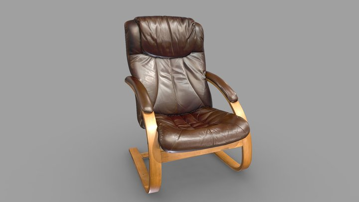 Leather Chair 3D Scan (Version 2) 3D Model