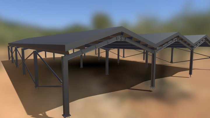 Steel Warehouse 3D Model