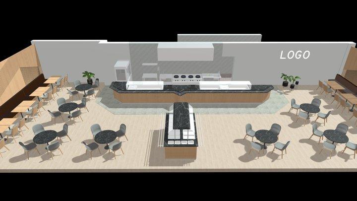 Restaurang miljö 3D Model