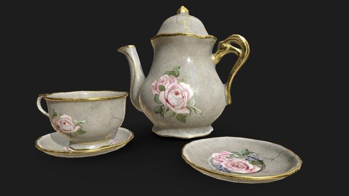 Porcelain Tea Set 3D Model