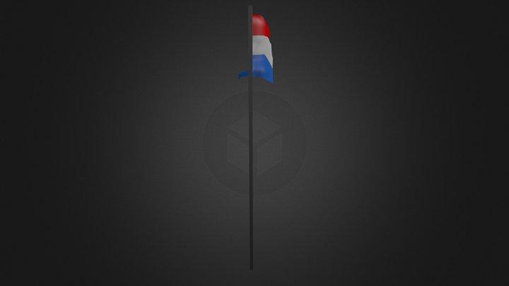 Netherland's Flag 3D Model