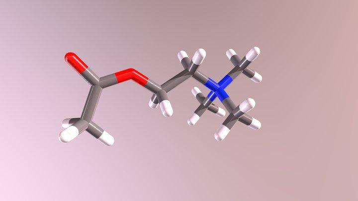 Acetylcholine 3D Model