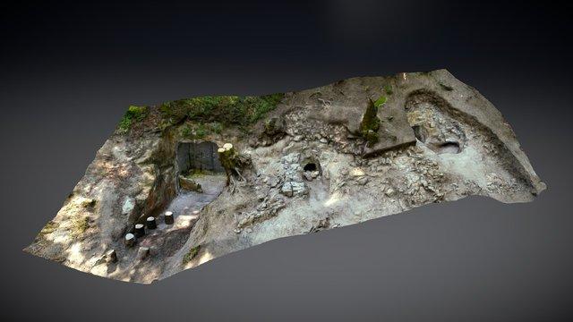 Extérieur hypogées 1&2 - Vert-Toulon, Champagne 3D Model