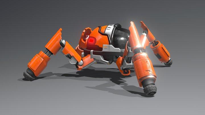 Quadruped Mecha 3D Model