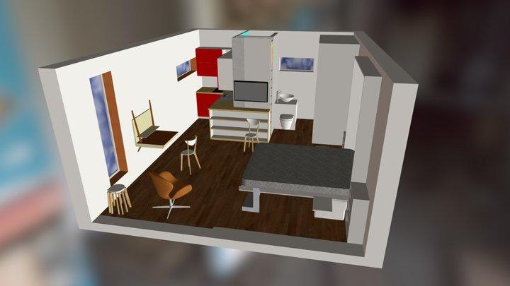 q-box 2 interior 2 3D Model