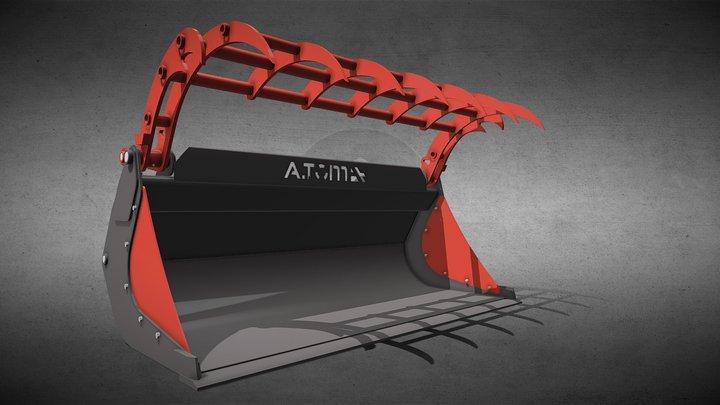 Ковш для силосу 1,0 м³ Dieci Zeus, тм «А.ТОМ» 3D Model