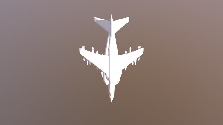 Airplane 0030 Off 3D Model