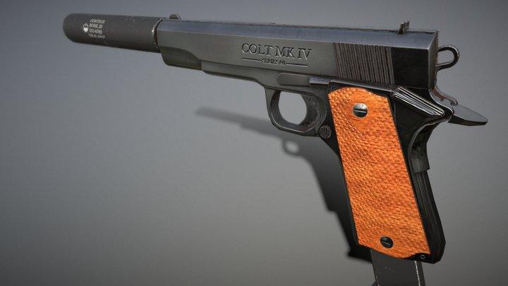 Colt_MK_IV_Lowpoly   Matteo L. 3D Model