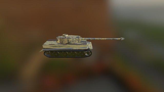 Tiger 1 German Tank 3D Model
