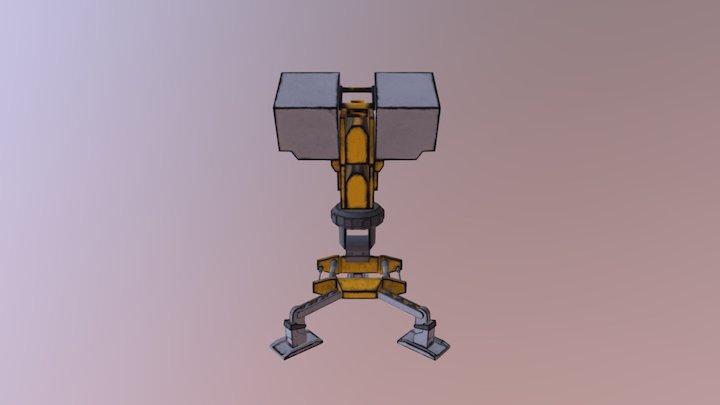 Solider Turret LVL 3 Final Form Borderlands 2 3D Model