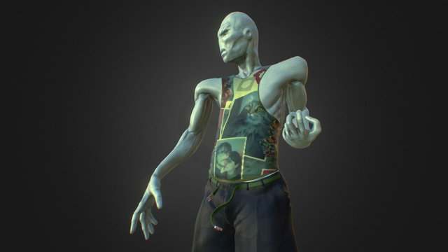 Caracter. Interplanetary Fight Club 3D Model