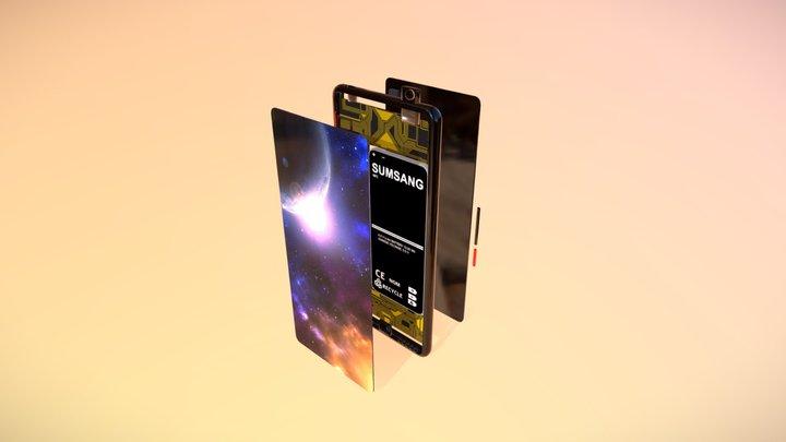 Highly Detailed Modular Smartphone 3D Model