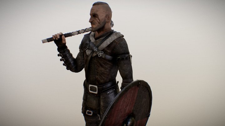 Viking/Medieval Game Character 3D Model
