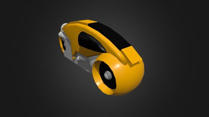 Classic Tron Lightcycle 3D Model