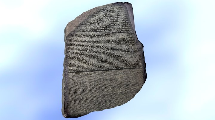 Rosetta Stone | Ultra-Low Poly 3D Model