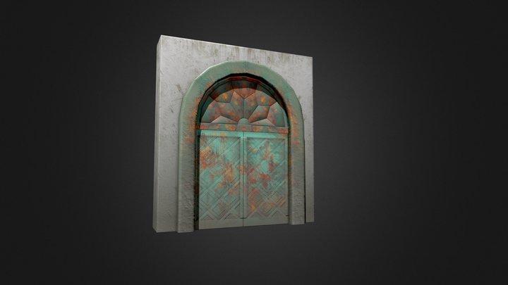 Old damaged doors 3D Model