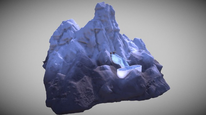 ExtermiCorp Snow Harvesters atop Mt. Veritall 3D Model