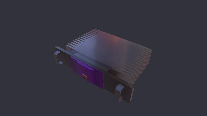 Amplificador de audio 3D Model