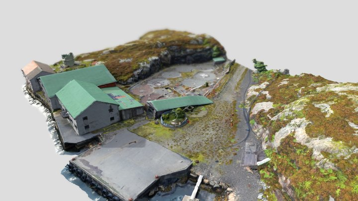 Arkeologisk feltkurs, Hjartøy. 3D Model