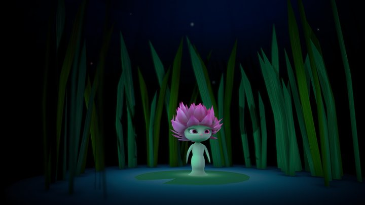 Water Lilly 3D Model
