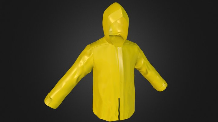 Yellow Raincoat. 3D Model