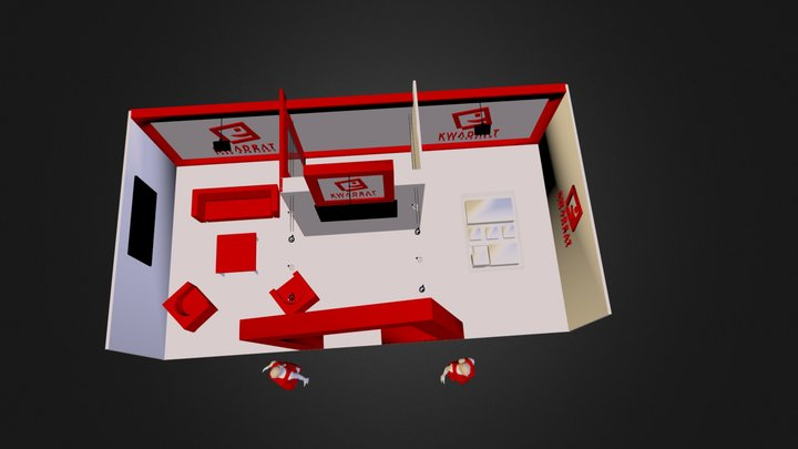 PH KWADRAT - Targi - wizualizacja.3ds 3D Model