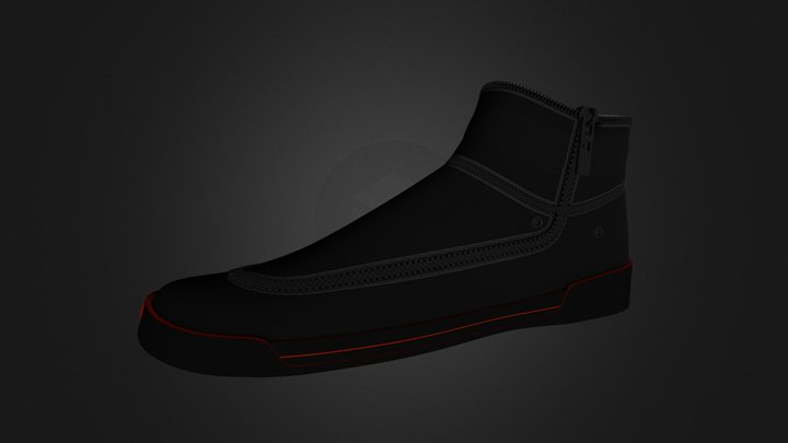 Sneaker (Mid Height) 3D Model