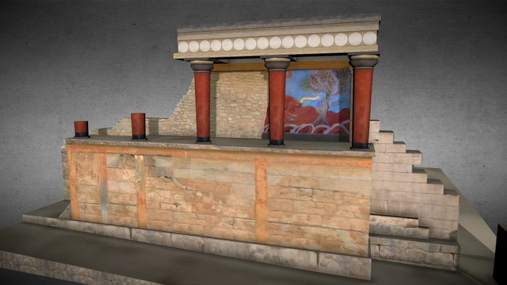 Knossos, the North Entrance 3D Model