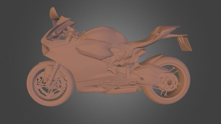 Ducati Panigale 3Ds Max 3D Model
