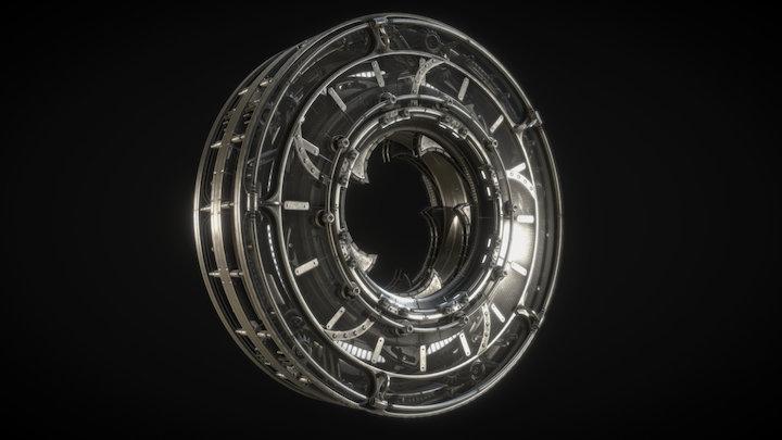 Mechanical Iris Door / Hatch 3D Model