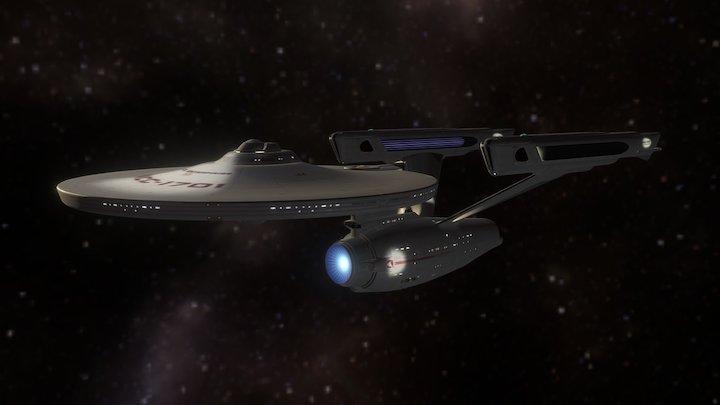USS Enterprise NCC-1701 3D Model